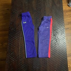 2 ( Nike & Under Armour) Girls Sweat Pants
